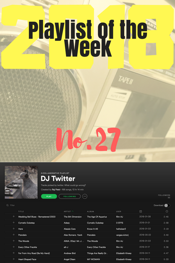 Playlist of the Week: Raj Patel invites the general public on Twitter to contribute to his playlist.