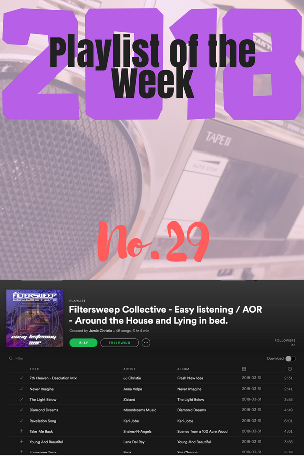 Playlist of the Week - Filtersweep Collective - Easy Listening / AOR