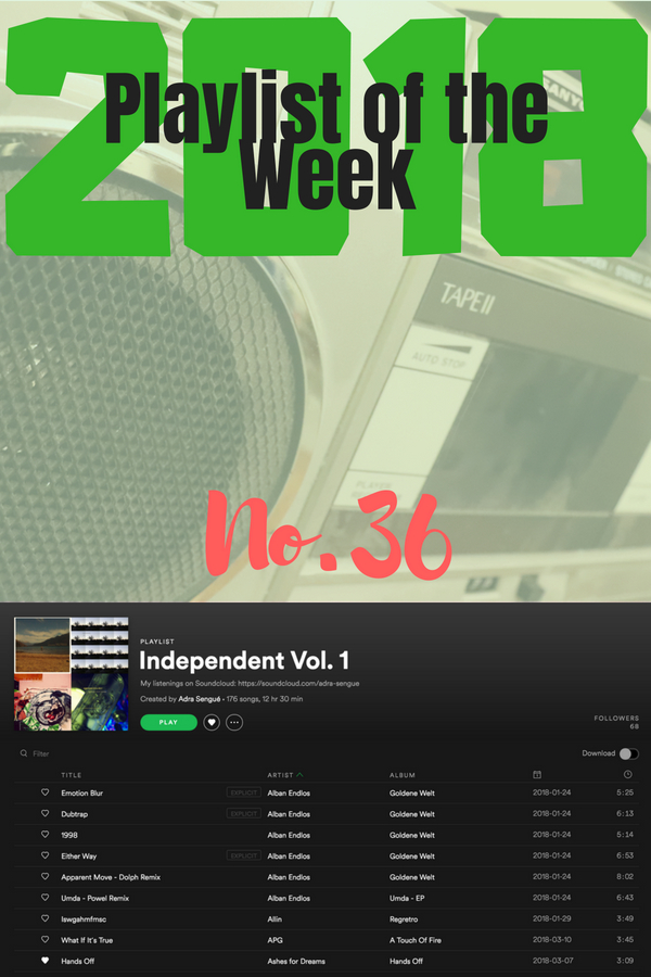 Playlist of the Week (2018/36): Adra Sengué's Independent Vol. 1
