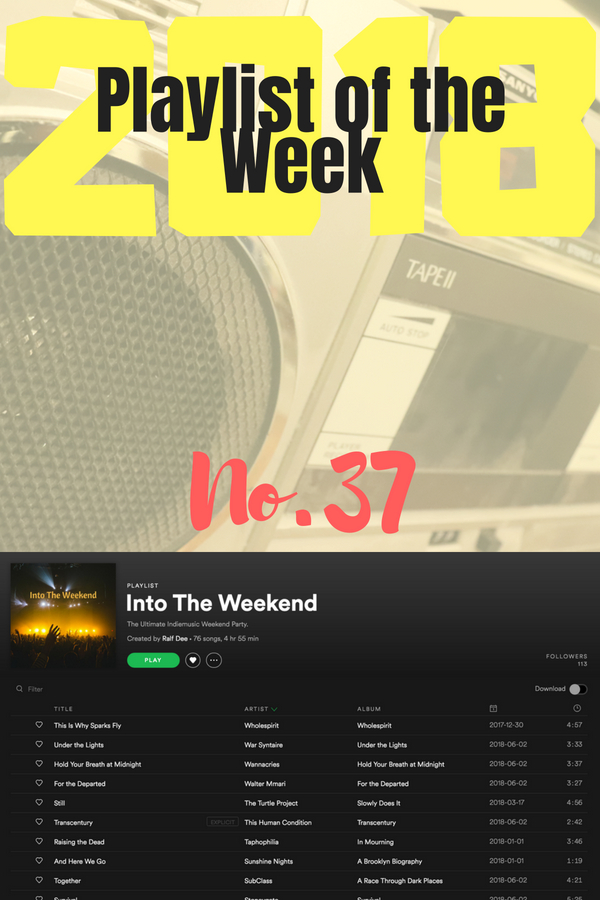 Playlist of the Week (2018/37): Into the Weekend, compiled by Ralf Dee.