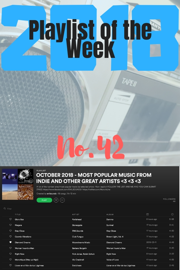 Stoneygate's Playlist of the Week No 42, 2018