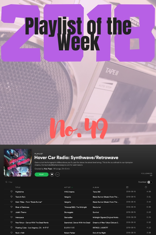 Playlist of the Week: Alex Pope's Hover Car Radio Synthwave/Retrowave collection