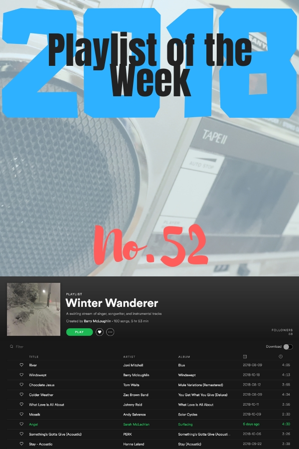 Playlist of the Week No 52, 2018 Winter Wanderer, curated by Barry McLoughlin