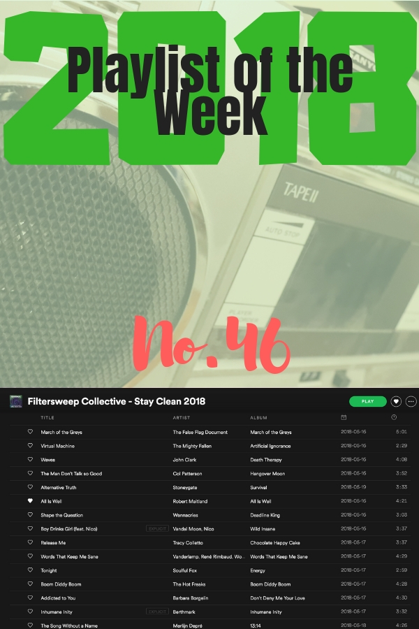 Playlist of the Week No 46: Filtersweep Collective - Stay Clean 2018