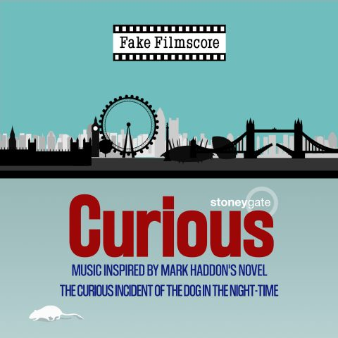 Cover art for Fake Filmscore's upcoming album, Curious - Music inspired by Mark Haddon's novel The Curious Incident of the Dog in the Night-Time